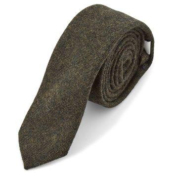Corbata de lana verde oscuro