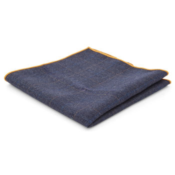 Pañuelo de bolsillo azul marino a cuadros