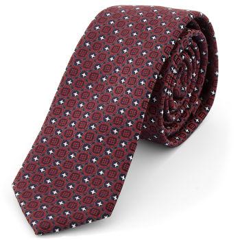 Corbata con diseño de color caoba
