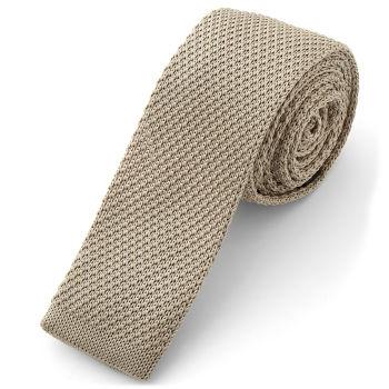 Corbata de punto moca