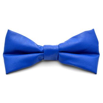 Pajarita en cuero azul