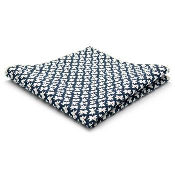 Pañuelo de bolsillo de algodón azul con diseño de lazos