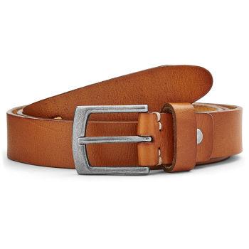 Cinturón fino de cuero color marrón claro