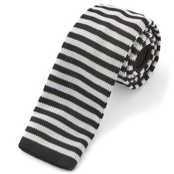 Corbata de punto sencilla de rayas