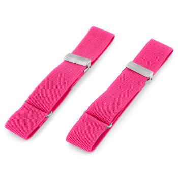 Neonově růžové elastické pásky na rukávy