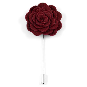 Boutonnière rose bordeaux