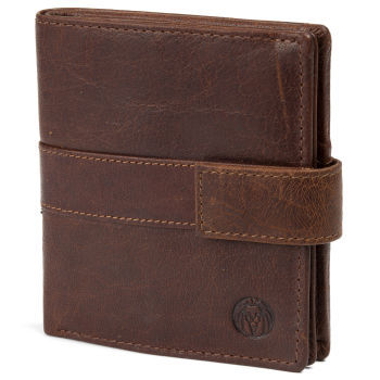 Montreal Vertical Tan RFID Leather Wallet