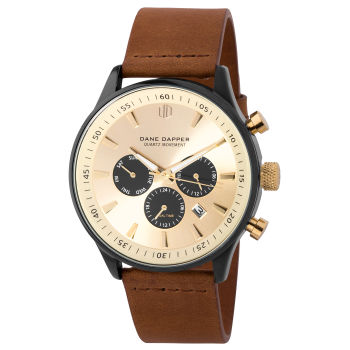 Brown, Gold-Tone and Black Troika Watch