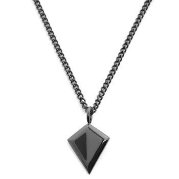 Čierny oceľový náhrdelník Triangle