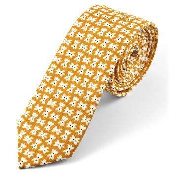 Corbata de algodón marrón con diseño de lazos