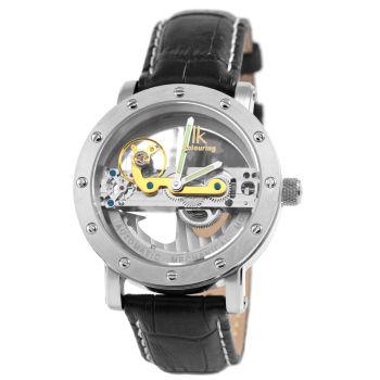 Reloj negro mecánico Pristine