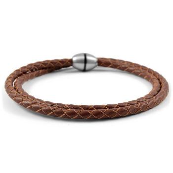 Bracelets Bolo en cuir brun