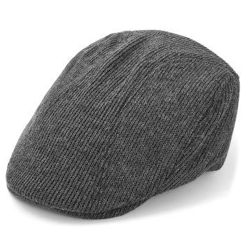 Gorra plana y gorda color gris