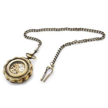 Reloj de bolsillo con borde ondulado