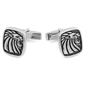 925s Sølv Mansjettknapper med Løvemotiv