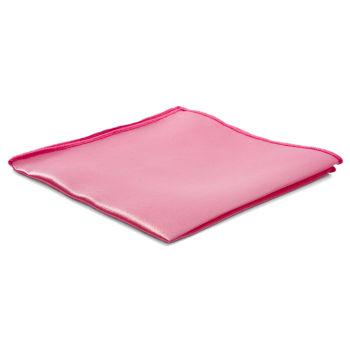 Pañuelo de bolsillo básico rosa claro brillante