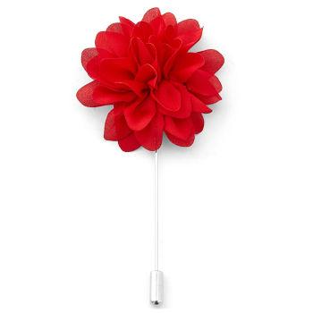 Flor de Lapela Vermelha Glam