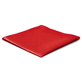 Lenço de Bolso Simples Vermelho Brilhante