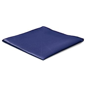 Lenço de Bolso Simples Azul Marinho Brilhante