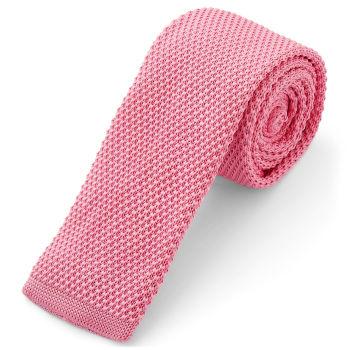 Corbata de punto rosa de moda