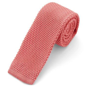Corbata de punto salmón rosado