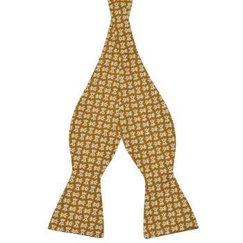 Pajarita para atar marrón de algodón con diseño de pajarita