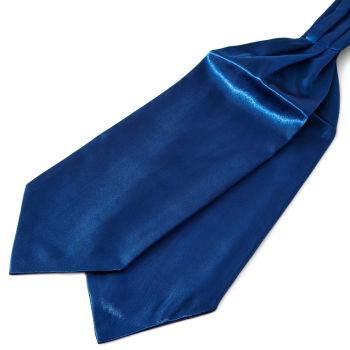 Kiiltävä tummansininen perus solmiohuivi