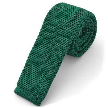 Fenyőzöld kötött nyakkendő