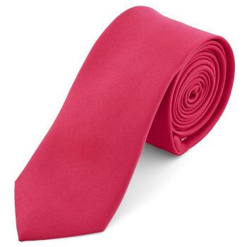 Gravata Básica Rosa Choque de 6 cm