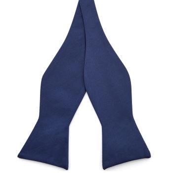 Navy Blue Basic Self Tie Bow Tie