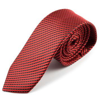 Corbata de microfibra en negro y rojo
