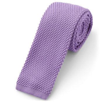 Corbata de punto violeta