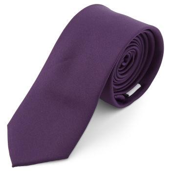 Gravata Básica Roxo Escuro de 6 cm