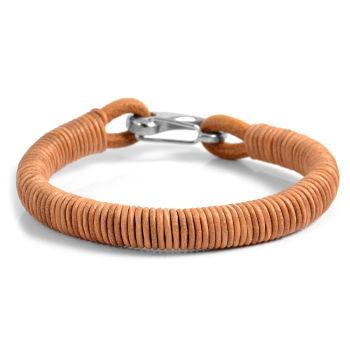 Brown Sandstone Leather Bracelet