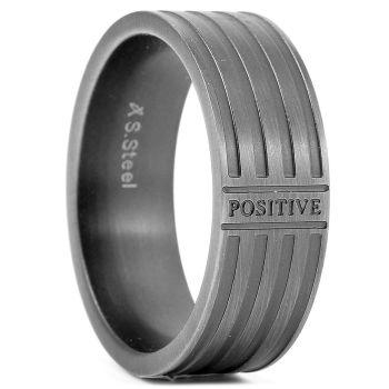 Стоманен пръстен Positive
