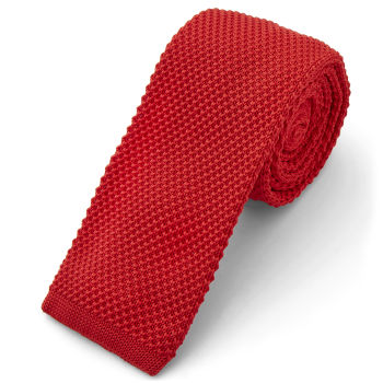 Corbata de punto roja