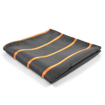 Pañuelo de bolsillo gris y naranja