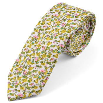 Corbata verde de diseño abstracto