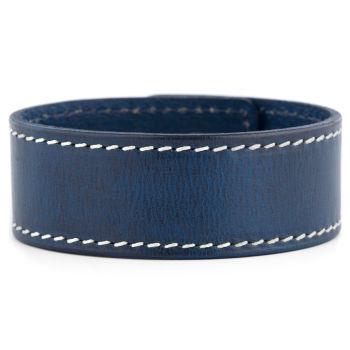 Blauwe Reeve Lederen Armband
