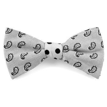 Pajarita algodón diseño blanco combinado