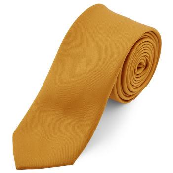 Corbata básica ocre 6 cm