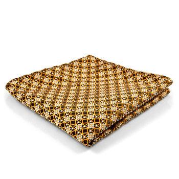 Pañuelo de bolsillo retro marrón