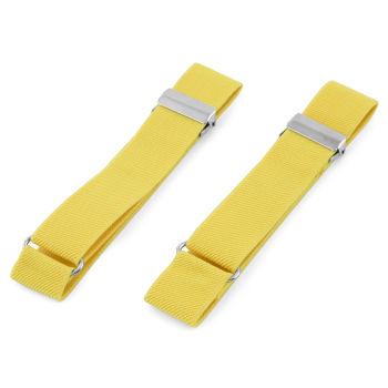 Citrónově žluté elastické pásky na rukávy