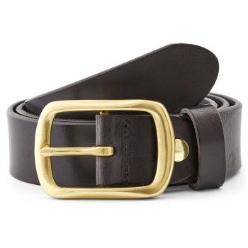 Black Leather Gold Buckle Belt