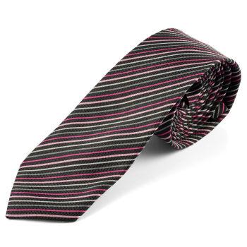 Corbata a rayas púrpura