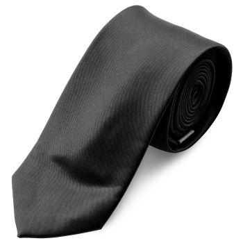 Corbata básica negro brillante 6 cm