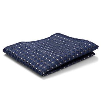 Pañuelo de bolsillo con estampado azul