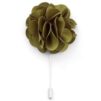 Flor de solapa verde oliva