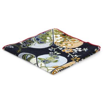 Pañuelo de bolsillo con estampado cachemira colorido