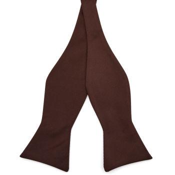 Pajarita para atar básica marrón oscuro